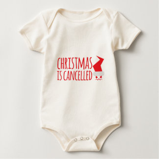 Christmas is cancelled with angry Santa face Baby Bodysuit