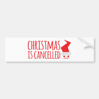 Christmas is cancelled with angry Santa face Bumper Sticker