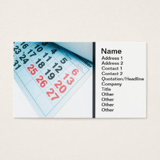 Christmas is coming business card