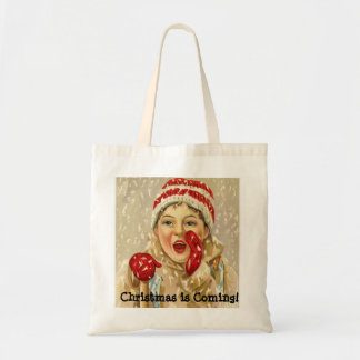 Christmas is Coming,  Child in the Snow Tote Bag