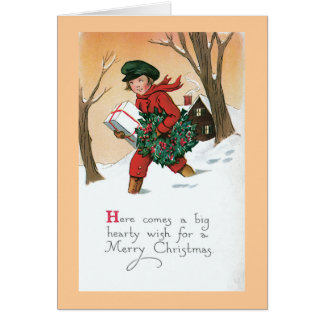 Christmas is Coming Vintage Card