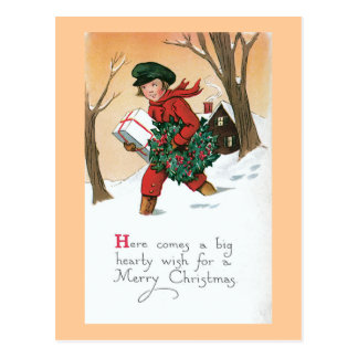 Christmas is Coming Vintage Post Cards