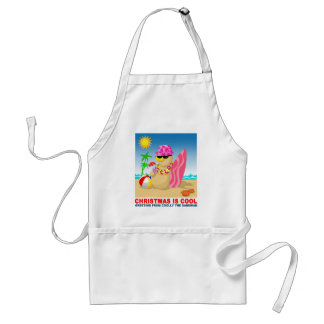 Christmas is cool, greeting from coolly the sandma adult apron