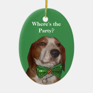 Christmas is for Beagles Too Ceramic Ornament