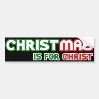 Christmas is for Jesus Christ Christians Unite Bumper Sticker