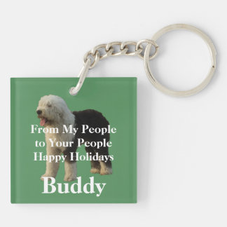 Christmas is for Puppies Keychain