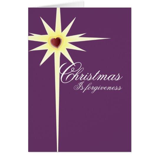 Christmas is Forgiveness-customize - Customized Card