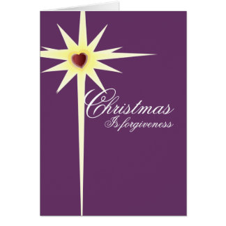 Christmas is Forgiveness-customize - Customized Greeting Card
