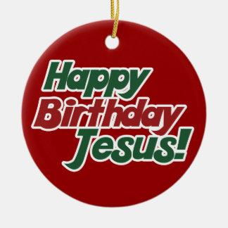 Christmas is Jesus Birthday Double-Sided Ceramic Round Christmas Ornament