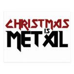 Christmas is Metal Postcard