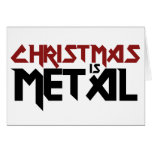 Christmas is Metal Stationery Note Card
