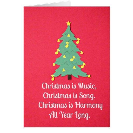 Christmas is Music.... Card