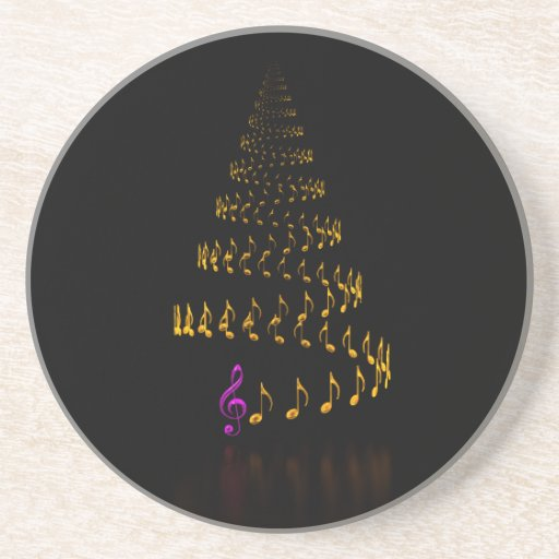 Christmas is music drink coaster