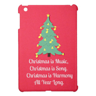 Christmas is Music.... Cover For The iPad Mini