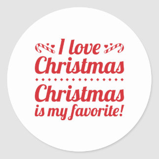 Christmas Is My Favorite Classic Round Sticker