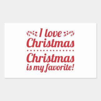 Christmas Is My Favorite Rectangular Sticker