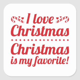 Christmas Is My Favorite Square Sticker