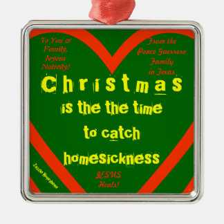 Christmas is the time... PERSONALIZED Metal Ornament