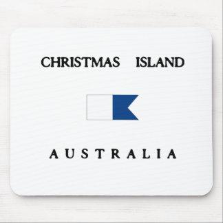 Christmas Island Australia Alpha Dive Flag Mouse Pad