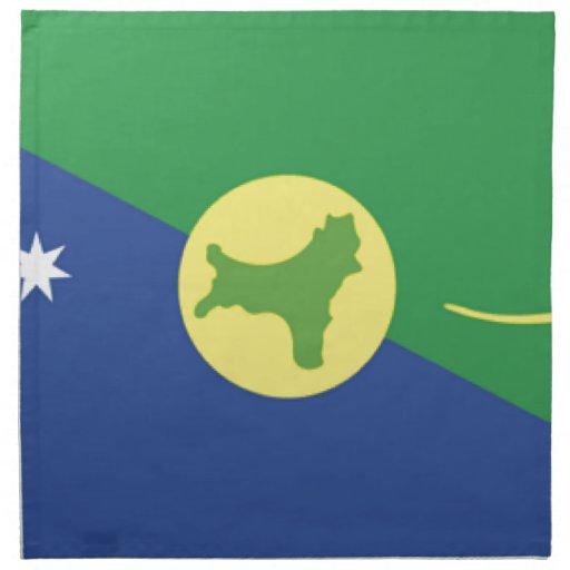 Christmas Island Flag Cloth Napkins