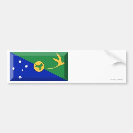 Christmas Island Flag Jewel Bumper Stickers