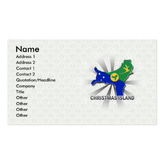 Christmas Island Flag Map 2.0 Business Card Templates