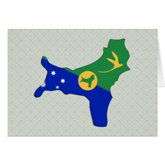 Christmas Island Flag Map full size Greeting Card