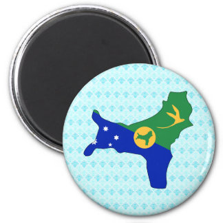 Christmas Island Flag Map full size 2 Inch Round Magnet