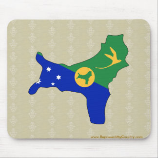 Christmas Island Flag Map full size Mouse Pad