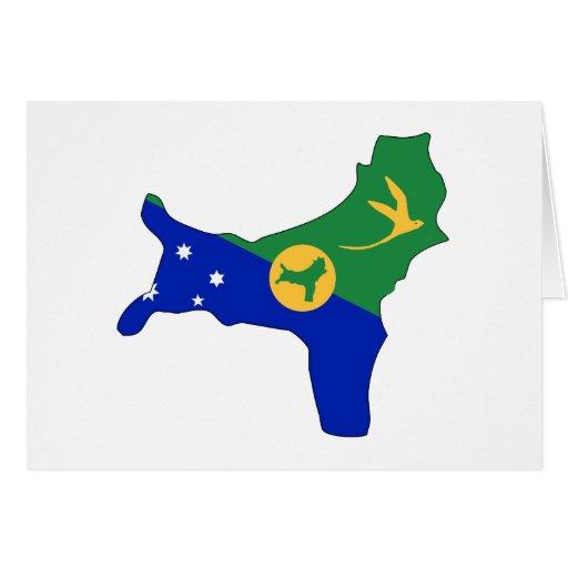 Christmas Island flag map Greeting Card | Zazzle