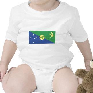 Christmas Island Flag Baby Bodysuits