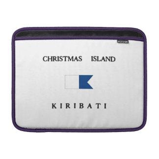 Christmas Island Kiribati Alpha Dive Flag MacBook Air Sleeves
