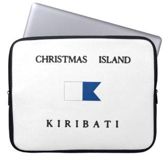 Christmas Island Kiribati Alpha Dive Flag Computer Sleeve