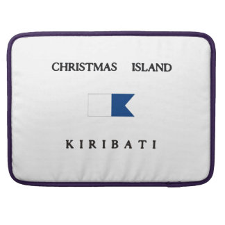 Christmas Island Kiribati Alpha Dive Flag MacBook Pro Sleeves