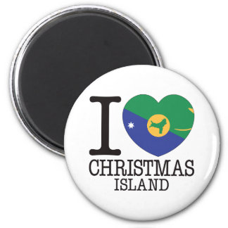 Christmas Island Love v2 2 Inch Round Magnet