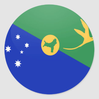 Christmas Island quality Flag Circle Round Stickers