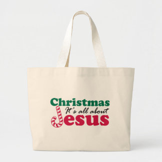 Christmas - It's all about Jesus Canvas Bags