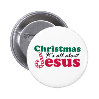 Christmas - It's all about Jesus Button