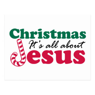 Christmas - It's all about Jesus Postcard