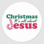 Christmas - It's all about Jesus Classic Round Sticker