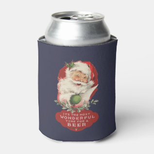 Christmas It's The Most Wonderful Time For A Beer Can Cooler at Zazzle
