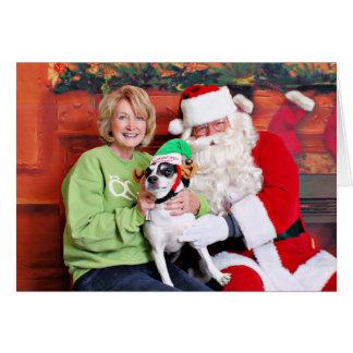 Christmas - Jack Russell - Eddie Greeting Card