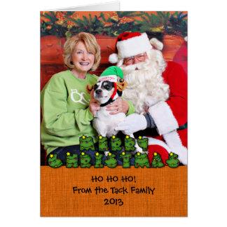 Christmas - Jack Russell - Eddie Greeting Cards