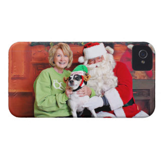 Christmas - Jack Russell - Eddie iPhone 4 Case-Mate Case