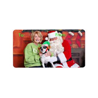 Christmas - Jack Russell - Eddie Custom Address Label