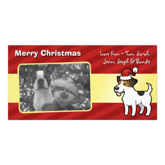 Christmas Jack Russell Terrier Card