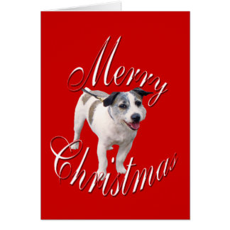 Christmas Jack Russell Terrier Greeting Card