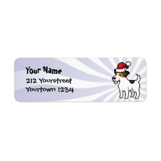 Christmas Jack Russell Terrier Return Address Label