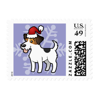 Christmas Jack Russell Terrier Postage Stamps