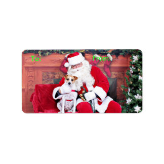 Christmas - Jack Russell - Trey Personalized Address Label